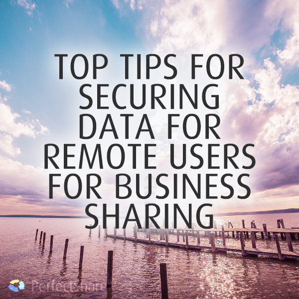 7 Top Tips For Securing Data For Remote Users To Your Business