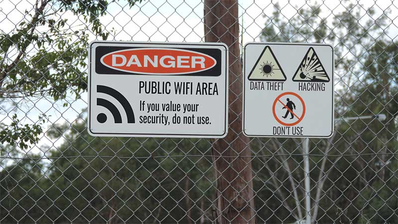 Public and free WiFi is bad for your business security