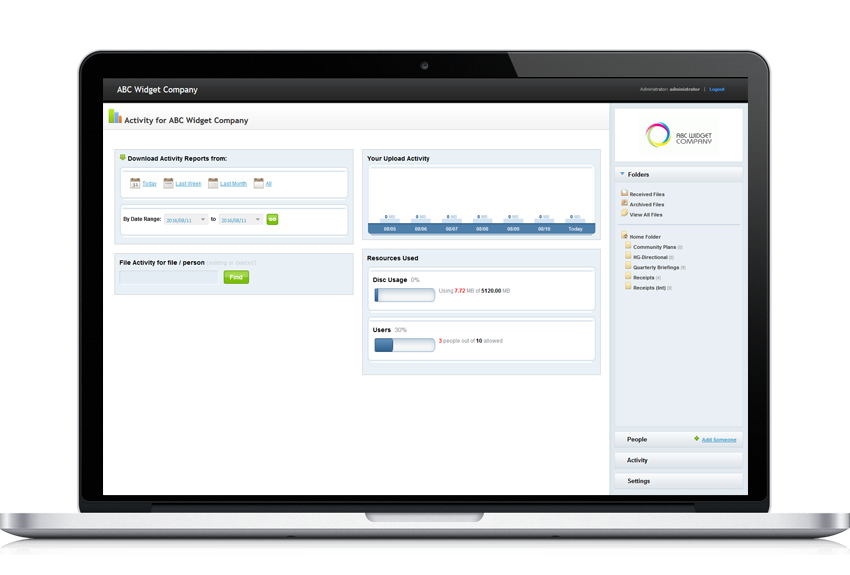 PerfectShare activity tracking for file sharing for business