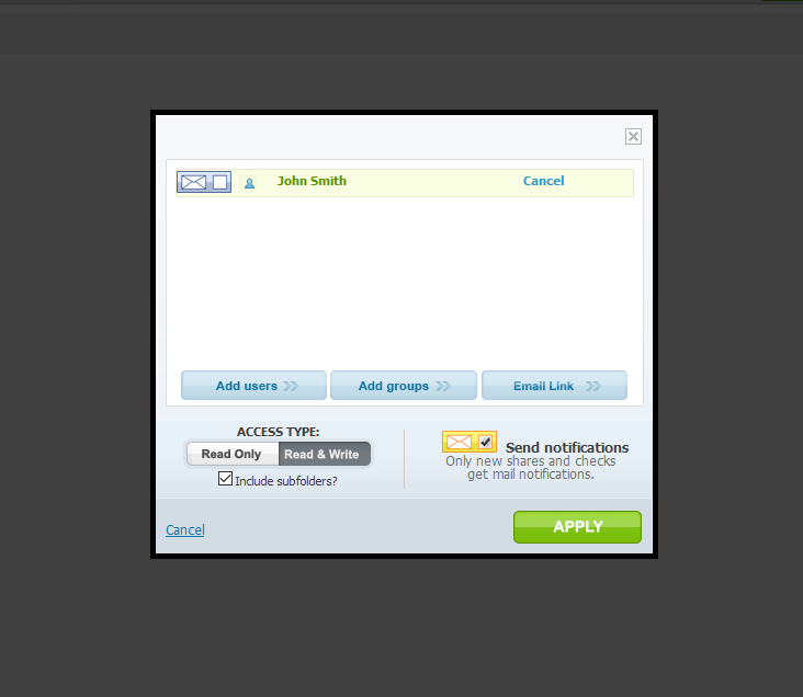 PerfectShare feature - better access control is something email collaboration for business doesn't have