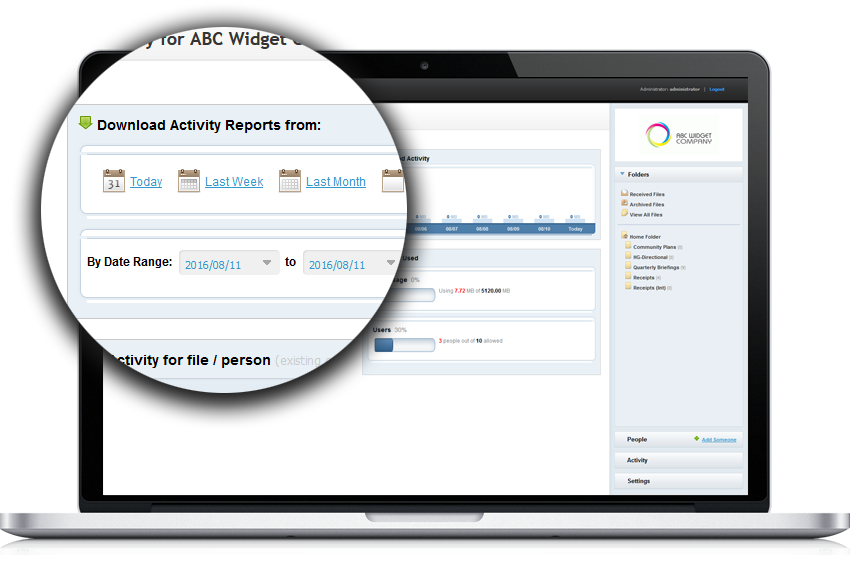 Fast reporting and even faster auditing for your business and activities in PerfectShare